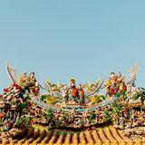 Chinese god and dragon art decoration Stock Photography