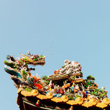 Chinese god and dragon art decoration Royalty Free Stock Image