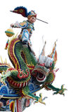 Chinese god ,dragon with white background . Royalty Free Stock Photography