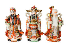Chinese God of Fortune, Prosperity and Longevity figurine. Common and popular figurine among the Chinese and are displayed at their homes, the threesome God of Royalty Free Stock Photography