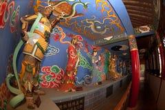Chinese God near Dragon Gate in Kumming city. Stock Photo