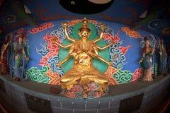 Chinese God near Dragon Gate in Kumming city. Royalty Free Stock Photo