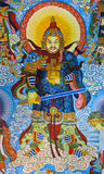 Chinese god painting Stock Images