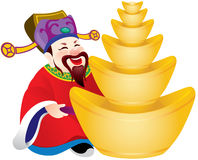 Chinese god of prosperity design illustration Stock Photo