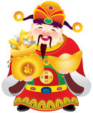 Chinese god of prosperity design illustration Stock Image