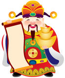 Chinese god of prosperity design illustration Royalty Free Stock Photo