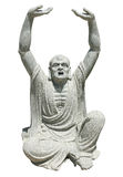 Chinese god sculpture. Image of chinese god sculpture on white background royalty free stock images