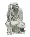 Chinese god sculpture. Image of chinese god sculpture on white background stock photos