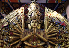 Chinese god. Sculpture in Chinese temple.(Guanyin Stock Photos