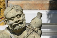 Chinese god sculpture Royalty Free Stock Image