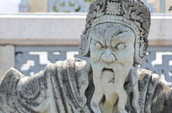 Chinese god sculpture Royalty Free Stock Photography