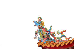 Chinese god sculptures Stock Images
