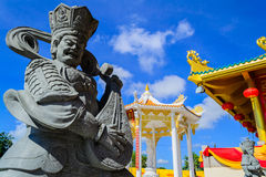 Chinese god sculptures Royalty Free Stock Photo