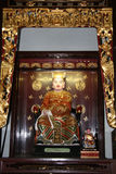 Chinese God Statue. Thian Hock Keng Temple, Singapore royalty free stock images