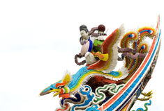 Chinese god statue ride on phoenix Royalty Free Stock Photography