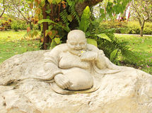 Chinese god statue stone Royalty Free Stock Photography