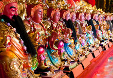 Chinese god statues Stock Photo