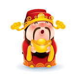 Chinese God van Rijkdom stock illustratie