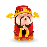 Chinese God of Wealth Stock Photography