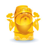 Chinese God of Wealth - Golden. Royalty Free Stock Photography