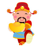 Chinese God of Wealth. Stock Photos