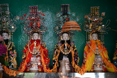 Chinese goddesses in altar Stock Images