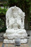 Chinese gods carved from white marble. royalty free stock photos