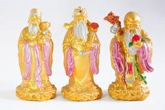 Chinese gods - Lu Fu Shou. Images on white background royalty free stock images