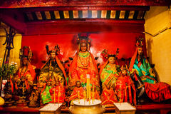 Chinese Gods Man Mo Temple  Hong Kong Stock Image