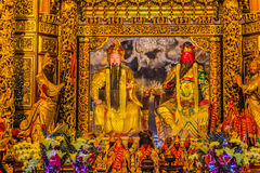 Chinese Gods statues can be seen at Wenwu Temple in Puli County Royalty Free Stock Image