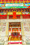 Chinese Gods statues can be seen at Wenwu Temple in Puli County Stock Photos