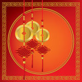 Chinese gold coins Stock Image