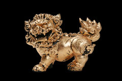 Chinese Gold Dragon Royalty Free Stock Photos