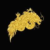 Chinese Gold Dragon Stock Photos