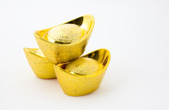 Chinese gold ingot Royalty Free Stock Image