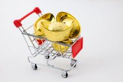 Chinese gold ingot Royalty Free Stock Photos