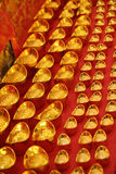 Chinese gold ingot.  stock photo