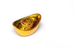 Chinese gold ingot Stock Image