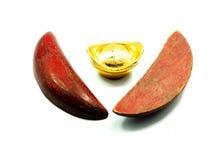 Chinese gold ingots Stock Images