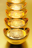 Chinese gold ingots Stock Image