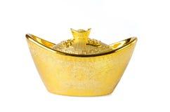 Chinese gold ingots decoration Royalty Free Stock Photo