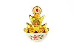 Chinese gold ingots decoration Stock Image