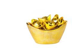 Chinese gold ingots decoration Stock Images