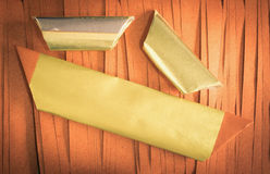 Chinese gold paper Stock Photo