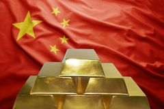 Chinese gold reserves Royalty Free Stock Images