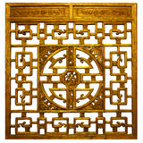 Chinese gold  Traditional wood Royalty Free Stock Images