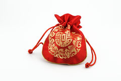 Chinese golden bag Stock Photo