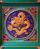 Chinese golden dragon Stock Photo