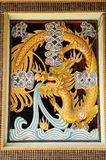 Chinese golden dragon Stock Photos