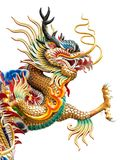 Chinese golden dragon statue stock image